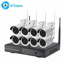 960P Wireless IP CCTV Security Camera 8 Channel NVR KIT WIFI 8 Bullet Cameras