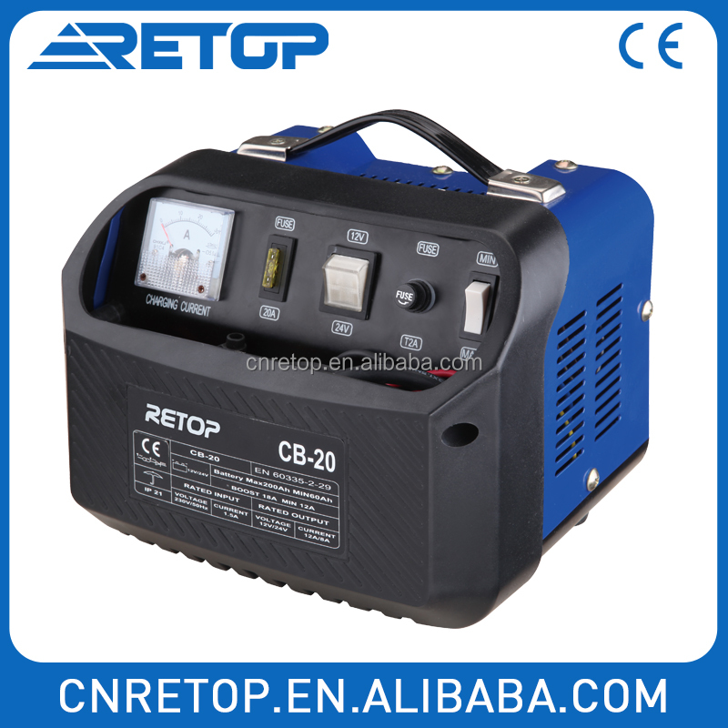 Retop 12V 24V portbable plastic car battery charger and booster CB-15