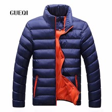 2016 New Brand GUEQI HOT <strong>Men's</strong> Winter Collar Fashion Slim Cotton Men <strong>jackets</strong> business casual warm coat mens <strong>jacket</strong> 8019