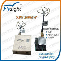 259 200mW 32CH 5.8G FPV Video TX RX Wireless AV Transmitter Receiver for Quad Rotor RC Helicopter
