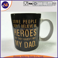 High quality with english letters printed cheap bulk stoneware ceramic coffee/tea/soup mug