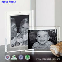 Family use colorless perspex photo frame