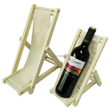 New design single wine bottle display wood wine holder