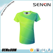 women all over sublimation printing t-shirt wholesale, cool fit sports tshirts by clothing factory