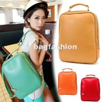 Fashion College Retro Casual Preppy Style PU Leather Handbags Funny Backpacks