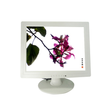 white color 15 inch Dental Chair LCD Monitor with AV input
