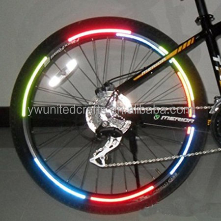Bicycle Reflecting Fluorescent Wheel Rim Sticker