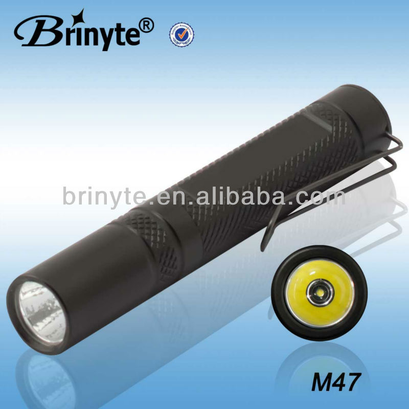 M47 Mini Type Aluminum Waterproof CREE Q5 Mini Clip Flashlight