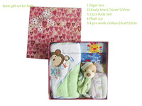 plush toy+baby clothes gift set