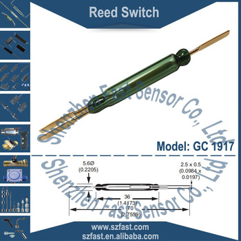 5.6x36mm COMUS Brand Changeover N.C 3 leads SPDT Magnetic Gold Contact Green Glass Reed Switch GC 1917