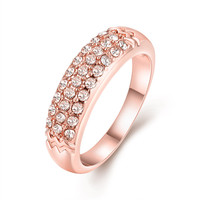 latest design ladies crystal zircon rings