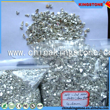 All Sided Golden Plated Mirror Silver surface all side natural large glass rocks for terrazzo