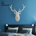 ROOGO New creative resin hanging white deer head craft home wall decoration