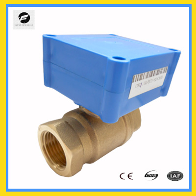 New design for mini actuator low current electric vavle CWX-20P 1.0D CR01 DN15 brass Water treatment project