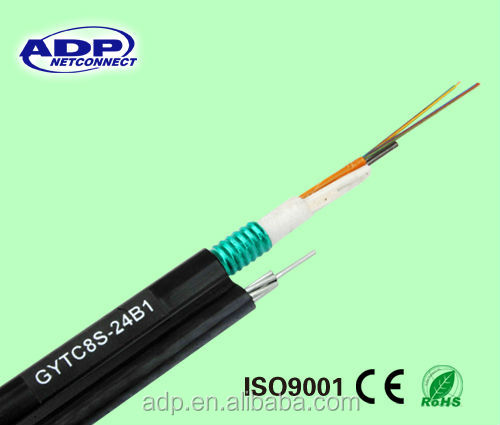 outdoor corning 12 core fiber optic cable gytc8s
