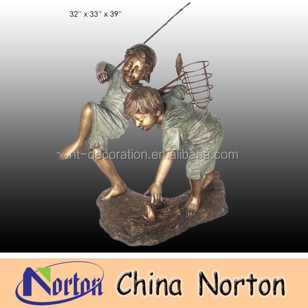 Children playing Life size bronze sculpture NTBH-C176