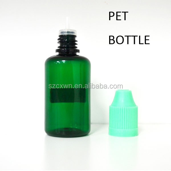 5ml/10ml/30ml empty PET e-cig liquid bottles, plastic liquid container with childproof caps tips tops (e cigarette liquid juice)