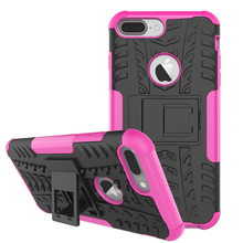 Hot selling PC TPU hybird shockproof kickstand case for iphone 8 plus case