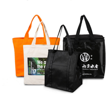 Bamboo Fibre Fabric Shopping Bag with Prints or Custmosized Logo Natural Material Shopping Bag