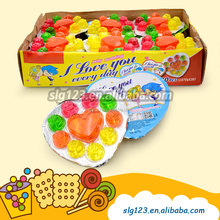 70g sweet fruit flavor heart shape cup pudding jelly