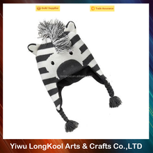 Wholesale hat suppliers knitted kids animal winter hats