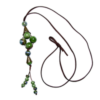 Chinese Style Handmade Flower Necklace Lady