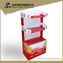 Design and Printing POS Corrugated Retail Self Assembled Paper Desk Show Stand