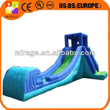 blue oxford fabric inflatable wave water slide
