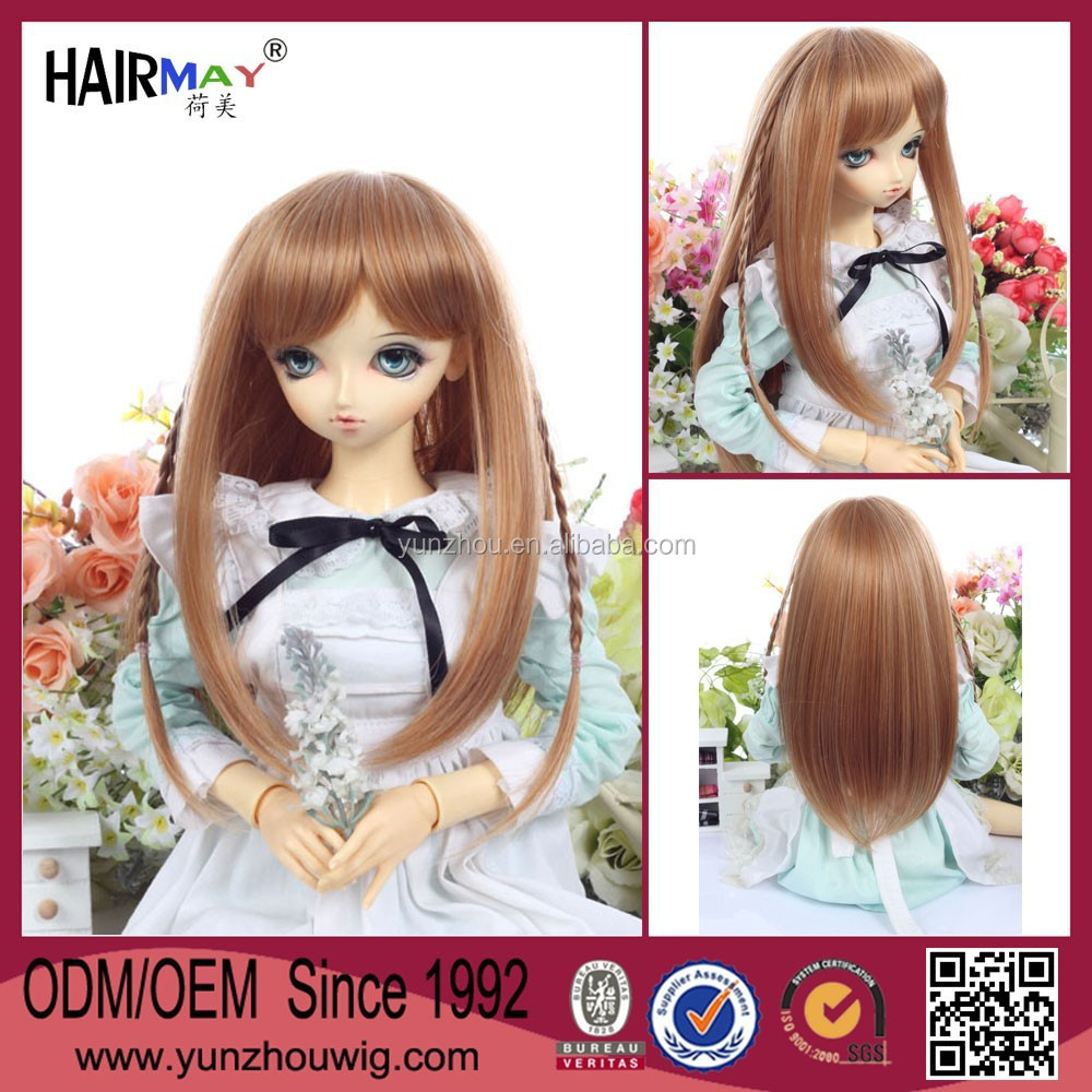 Factory wholesale delicate doll wig with braid