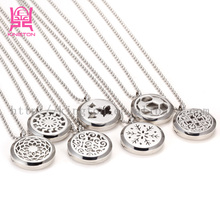 stainless steel made essential oil diffuser pendant necklace wholesale