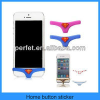 Superman underpants silicone home button sticker for iphone 4 5 5s(PT-I5H201)
