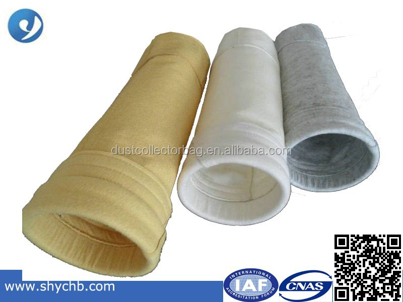Polypropylene punched dust filter fabric carbon fiber dust filter bag