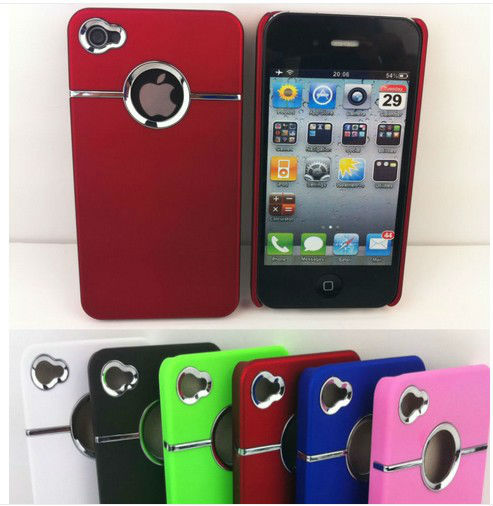 2013 Hot Selling Ultra Thin New Stylish Hard Case Cover For iPhone 4 4S Free Screen Protector