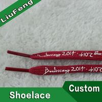 Silicone glow in the dark round shoe laces