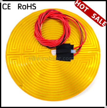 Round Kapton Polyimide Flexible Heaters 12V 300MM With Thermistor