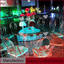 Long lifetime 16 colours LED event heart shaped steel wedding table