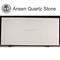 Artificial Stone Cheap Foshan Polished Engineered Stone Marble Veins Carrara Quartz Stone Slabs