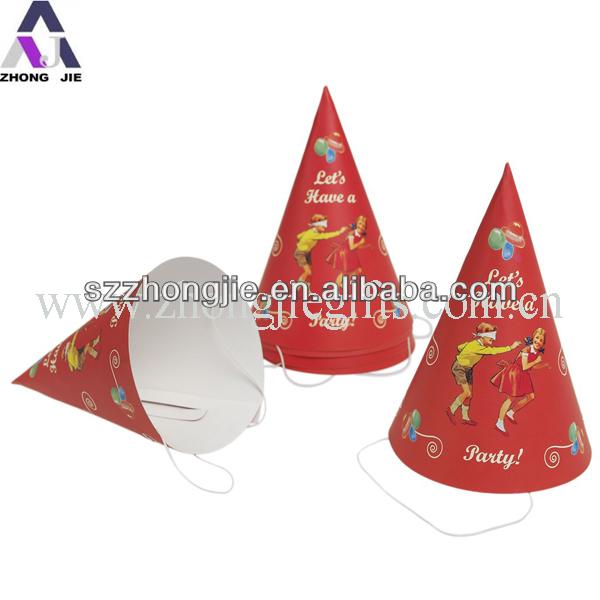 Birthday paper party hat for kids