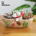 Resin Hedgehog Christmas Succulent Plant Flower Herb Bed Pot Trough Garden Planter