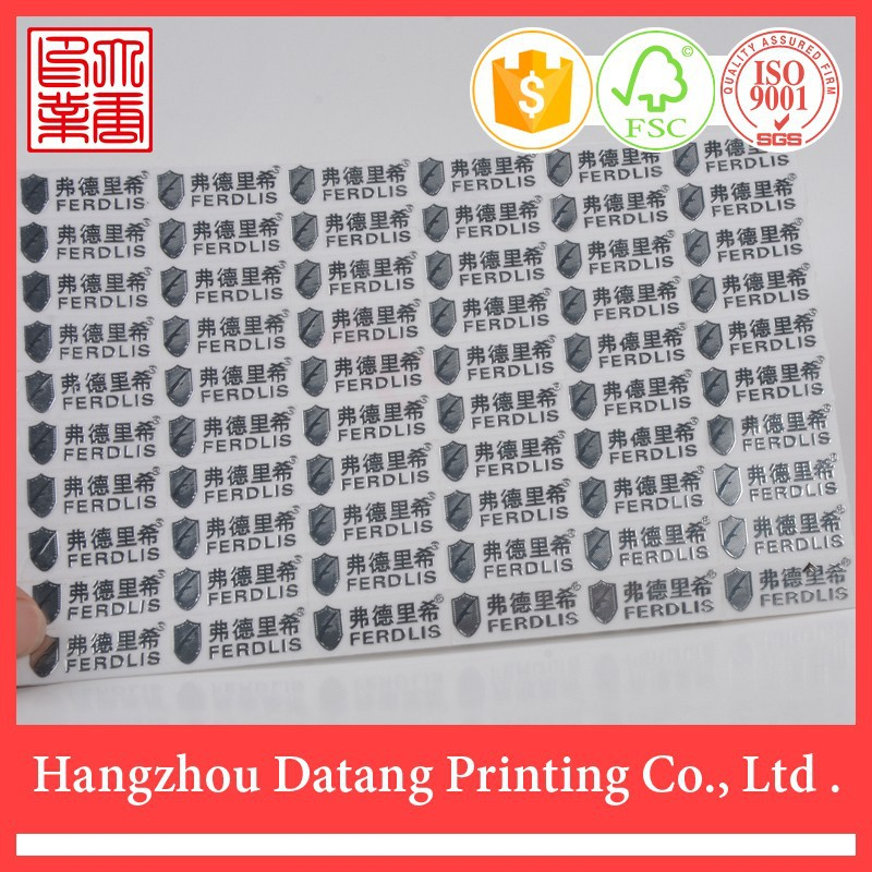 High quality wholesale custom metal adhesive labels