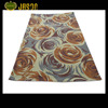 FLOWER FASHIONAL DESIGN POLYESTER HANDHOOKED RUG FLOOR CARPET