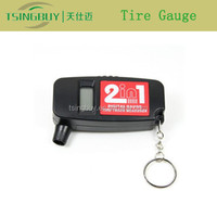 Best 2 in 1 digital car lcd tyre tire pressure gauge keychain
