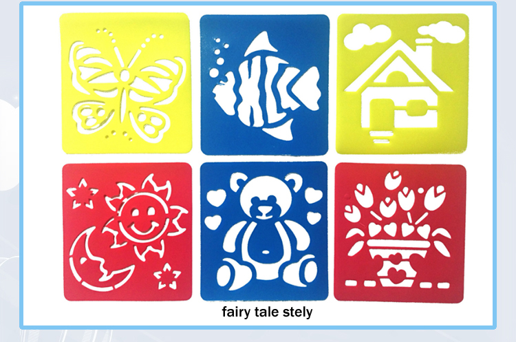environmental pp custom color kids drawing stencil templates for Christmas gift