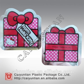 Custom Printing lovely plastic special shape food packaging bag candy bag with 3Ddesign for nut/chocolate/bean etc