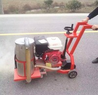 road crack grooving construction machiney used to concrete saws