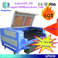 easy to use auto feed 2 heads carbon fiber laser cutting machine