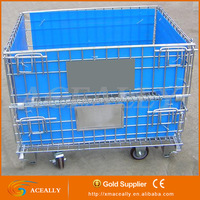 Galvanized folding industrial wire mesh quail cage