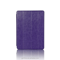 For iPad air 2 smart leather case with stand function Purple