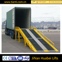 China factory sales hydraulic yard ramp mobile big loading ramp used for warehouse