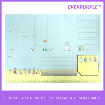 A3 popular weekly planner,weekly planner notepad,sticky notepad